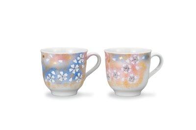 画像1: ペアマグカップ 花の舞